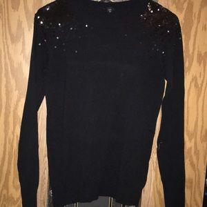 Sequin black sweater